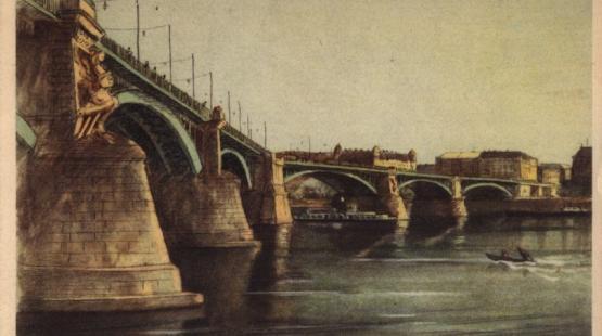 A Margit híd képeslapon