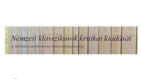 Nemzeti klasszikusok kritikai kiadásai