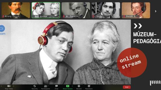 Élő online múzeumpedagógiai foglalkozások