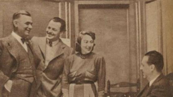 Márai Sándor a Kaland főszereplőivel (1940)